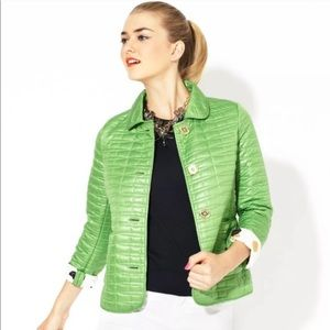Kate Spade quilted jacket green size XS j1